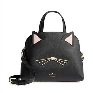 Kate Spade Lottie Black Cat Shoulder bag NWT